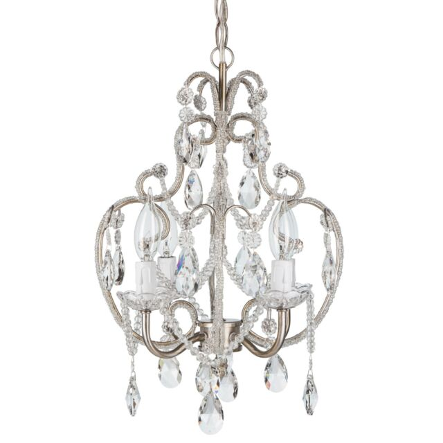 4f94be3bbc8 Crystal Beaded Chandelier for Girls Room Mini Swag Lamp Hanging ...
