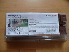 protimber Montage-Clip Kunststoff Braun für protimber Bodendielen - 25 Clips