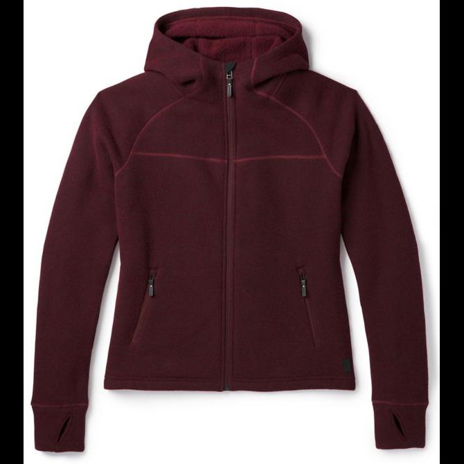 2019 Neuf Avec étiquettes Femme SMARTWOOL HUDSON Trail F-Zip Fleece Pull  120 S Tibétain rot