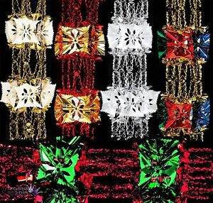 2.7m Foil Luxury Garland Large Foil Christmas Xmas Ceiling Hanging ...