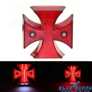 Dc 12v Universal Led Motorcycle Quads Maltese Cross Tail Brake Lamps Rear Lights Attractive Fashion Atv,rv,boat & Other Vehicle