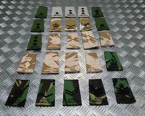 Genuine-British-Army-Royal-Gibraltar-Regiment-Rank-Slide-Various-Colours-Ranks
