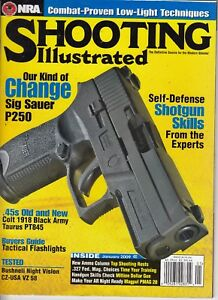 1f4835a0677 Image is loading NRA-Shooting-Illustrated-Magazine-Jan-2009-Sig-Sauer-