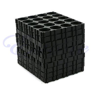 Black 4X 18650 Battery 4x5 Cell Spacer Radiating Shell Pack Plastic Heat Holder