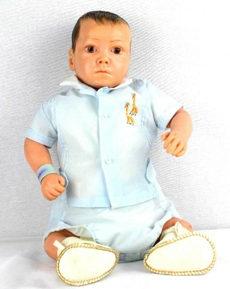 Vintage Neugeborenes Baby Junge Voll Körper Silikon Realistische Puppe Größe 21