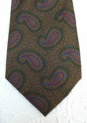 Paisley pattern English silk tie by Lester Bowden Sporting Tailor of Epsom