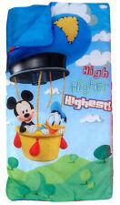 Camping Slumber Sleeping Bag + Backpack Disney Mickey Donald Boy Girl Age 3+ NEW