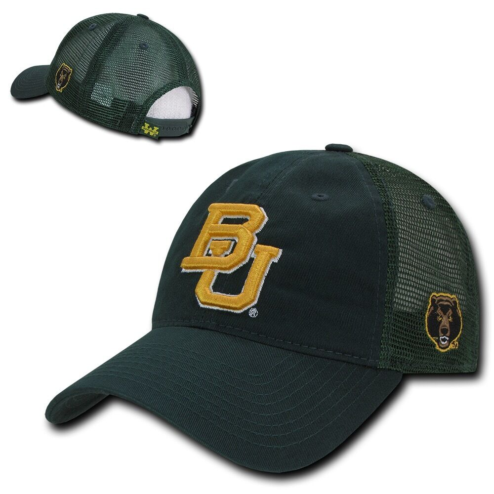 bca52743 ... 50% off ncaa baylor bears university curved bill relaxed relaxed  relaxed mesh trucker caps hats