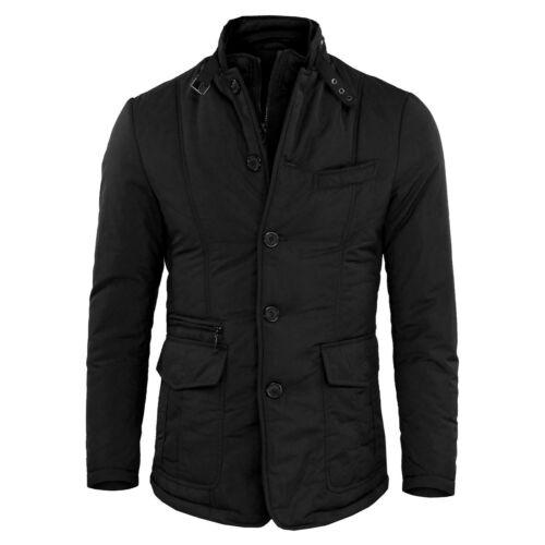 Men/'s Jacket Winter Jacket 100 Grams Slim Fit Elegant Blue Black