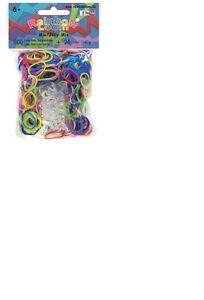 Orginal Rainbow Loom Jelly Mix Bunt Basteln Armband Clips Gummi Band