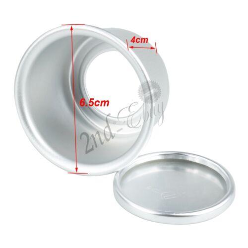 5Pcs 2inch Aluminum Non Stick Round Mini Cake Pan Removable Bottoms  Baking Tool