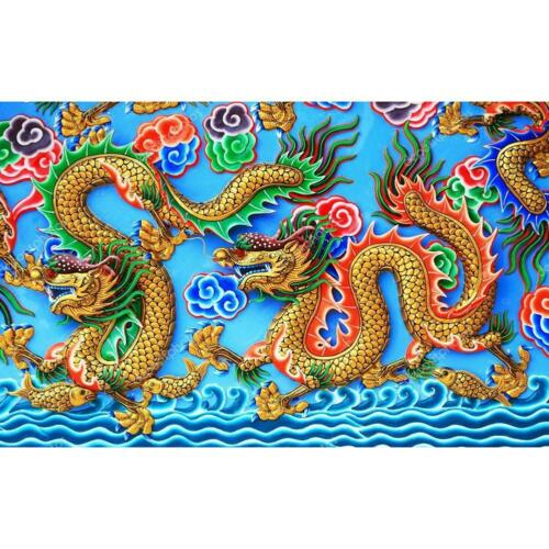 5D DIY Full Drill Diamond Painting Chinese Dragon Cross Stitch Home Decoration