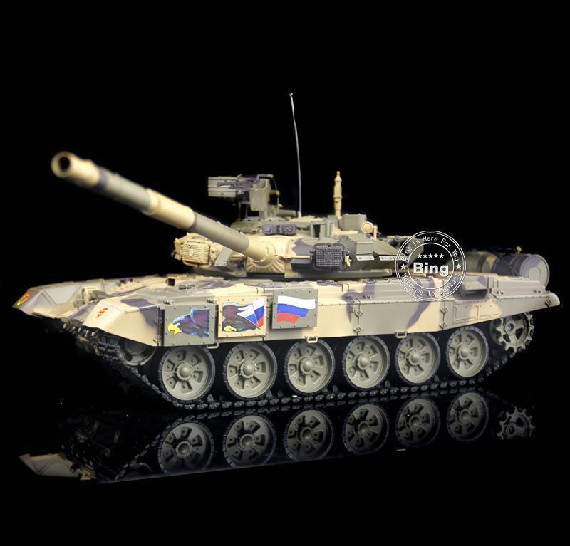 Reino Unido stock henglong 1/16 ruso T90 RTR RC tanque pistas de plástico llantas 3938 Modelo