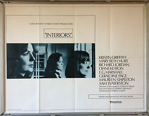 Image Is Loading Cinema Poster INTERIORS 1978 Quad Woody Allen Diane