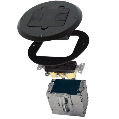"Raco 6239 Black 5-5//8/"" Recessed Floor Box"