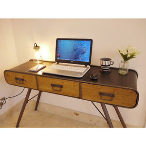 Image Is Loading 3 Drawer Vintage Metal Wood Retro Office