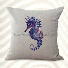 US Seller-seahorse marine fish ocean cushion cover decorative pillows covers