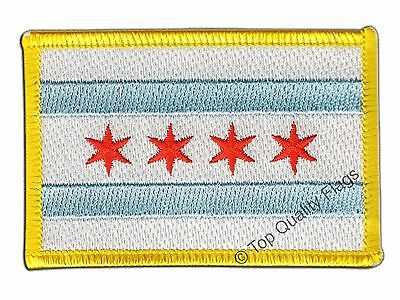 USA City of Chicago Flag EMBROIDERED PATCH 8x6cm Badge