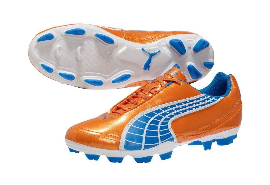 Puma v 5.10 I FG Soccer shoes 2011 Fluo orange   bluee   White Brand New