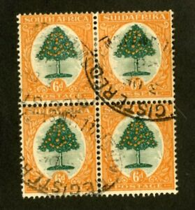South-Africa-Stamps-25-XF-USED-BLOCK