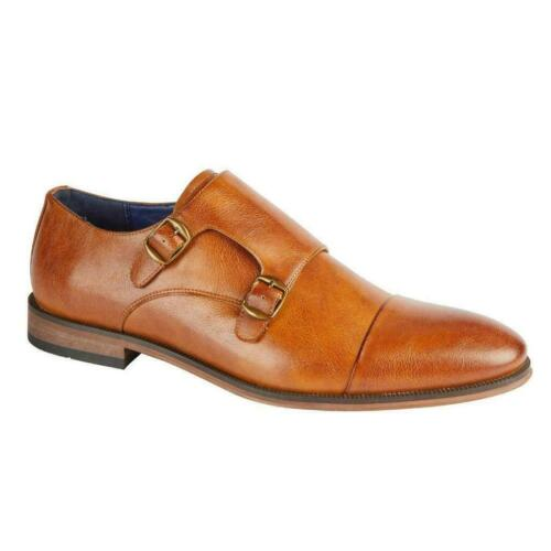 Charles Southwell STOKHOLM Chaussures Hommes Double Moine Bracelet Tailles 7-12