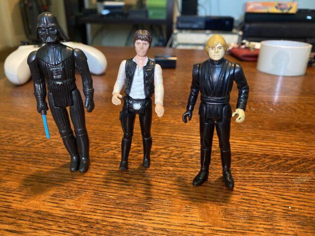 Star Wars Kenner Action Figures Han Solo, Luke Skywalker, And Darth Vader