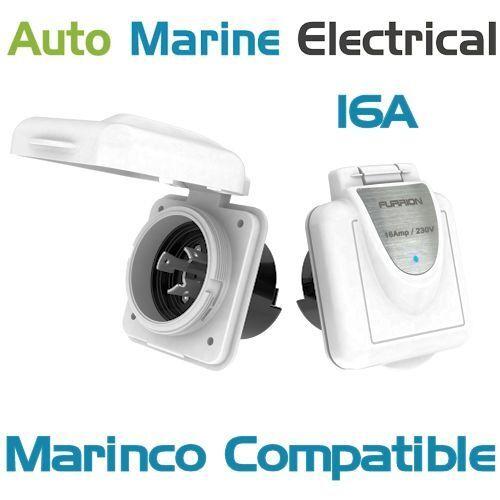 Marinco Compatible International Marine Shore Power 16A Plastic Inlet