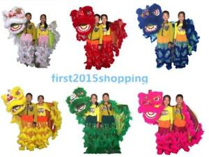 Details About 2019 Southern Lions For Two Kids Pur Lion Dance Mascot Costume Pure Wool Cosplay
