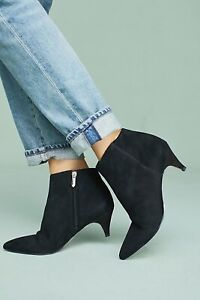 dc5dbada8 Image is loading Sam-Edelman-kinzey-Black-suede-ankle-boots-size-