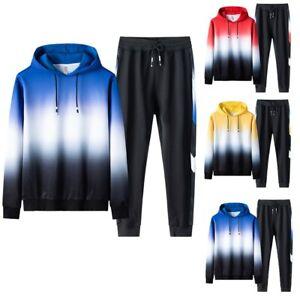 Мужские повседневные Slim Fit молнии толстовка спортивный костюм спортивные толстовки костюмы и комплекты