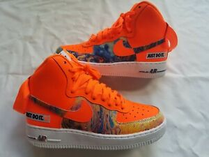 New Nike Air Force 1 Mid JDI Womens Size 8.5 Orange leather ...