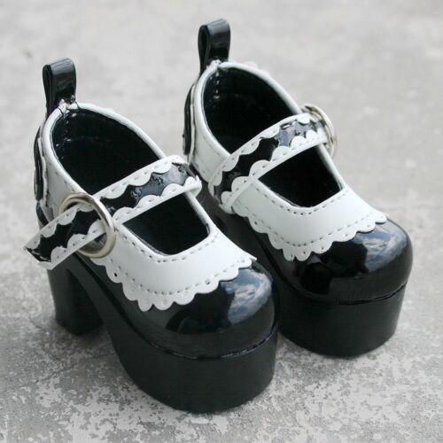 BJD 55# Black High Heels 1//3 SD DZ AOD BJD Dollfie Synthetic Leather PF
