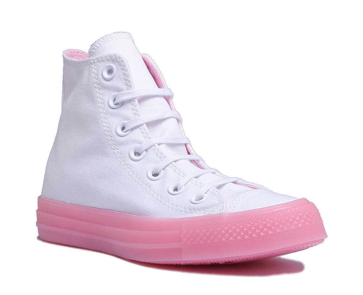 Converse CT All Star Hi Candy Damens WEISS Cherry Hi Top Trainers Größe UK 3 - 8