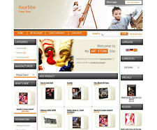 PROFESSIONAL ECOMMERCE ONLINE STORE SHOPPING CART WEBSITE FOR ART STORE BUSINESS