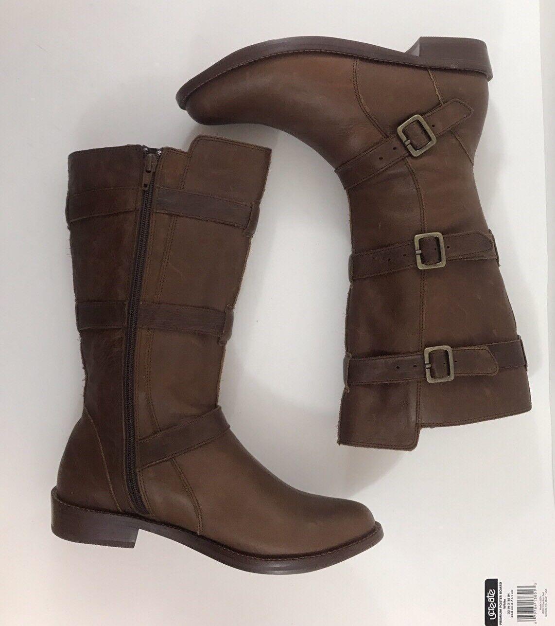 Anthropologie Gee Wawa Marronee Leather Mid-Calf stivali Dimensione 7M  328  13