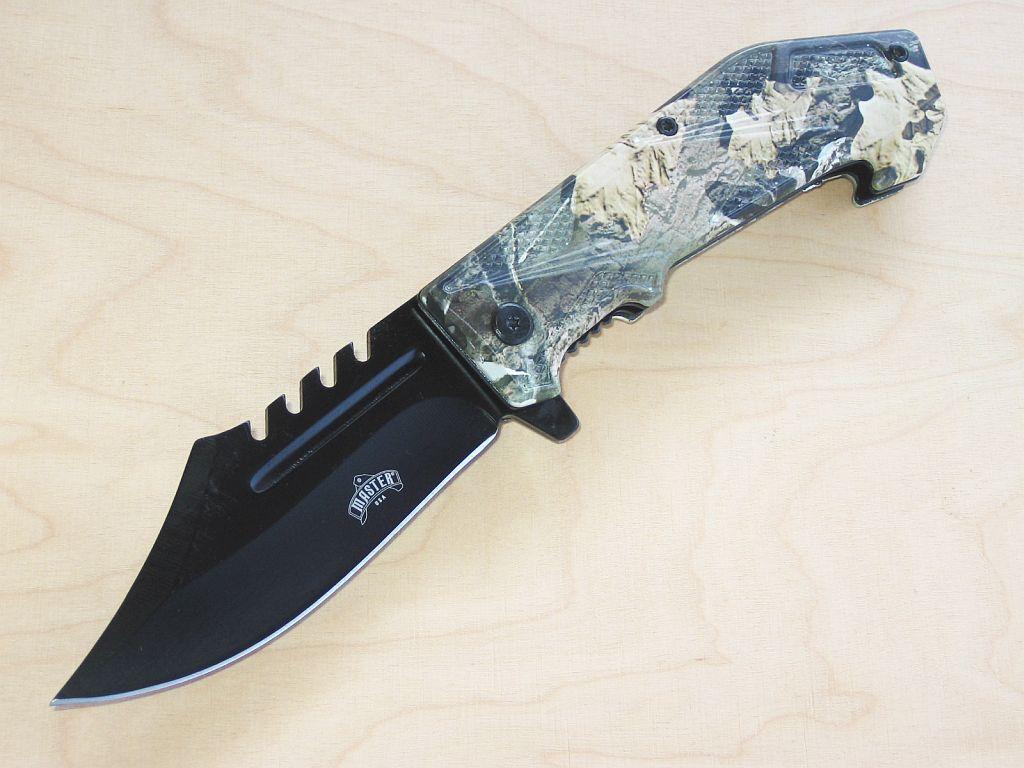 Einhandfolder Assisted Opening by Master Knives USA USA USA Real Tree Camo poignée NOUVEAU/Neuf dans sa boîte fda1fe