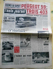 L'AUTO-JOURNAL n°207 de 1/10/1958 Trois 403 Peugeot / l'Austin A - 40