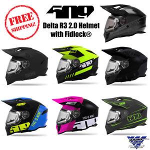 509-Delta-R3-2-0-DOT-ECE-Certified-Electric-Snowmobile-Helmet-with-Fidlock-Strap