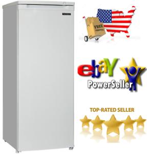 """Thomson Upright Freezer 6.5 cu ft 55/"""" Tall Frozen Food Storage Reversible Door"""
