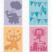 Cricut Cuttlebug Embossing Folders Birthday Bash Set Of 4