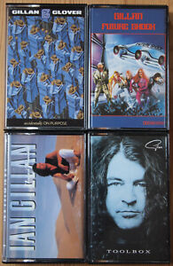 4x-IAN-GILLAN-CASSETTE-TAPES-LOT-FUTURE-SHOCK-ETC-HARD-ROCK-DEEP-PURPLE-EX