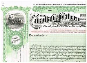 Canadian-Northern-Ontario-Railway-Co-19xx-SPECIMEN-rare