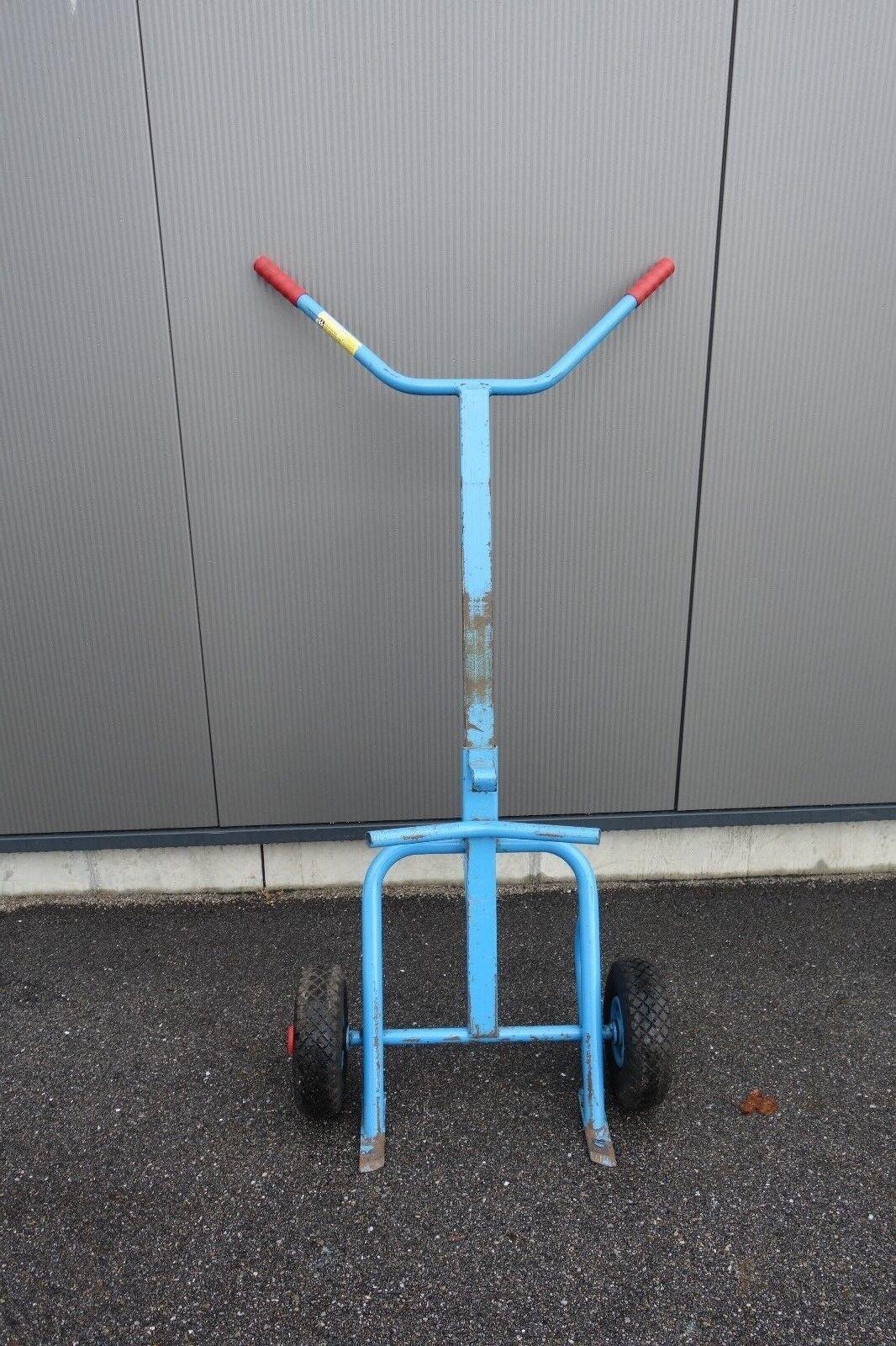 Fetra fasskarre fasskarre Fetra Chariot de transport 300 kg pneumatiques fassroller tonneau caisse INCL. TVA ec121e