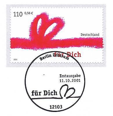 """Brd 2001: """"für Dich"""" Nr. 2223 Mit Dem Berliner Ersttags-sonderstempel! 1a! 1606 Das Ganze System StäRken Und StäRken"""