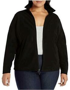 Essentials-Women-039-s-Plus-Size-Full-Zip-Polar-Fleece-Black-Size-2-0