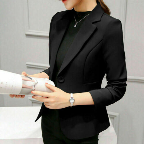 Autumn Women Long Sleeve Slim Work Business Suit Coat Jacket Blazer Coats Blouse