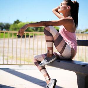 LC/_ Femmes vif sport pantalon gym fitness yoga fin Leggings ALLU