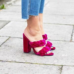 53d4bb86944 Asos Highgate Red Velvet Plaited Mules US6-11 Sold out Bloggers ...