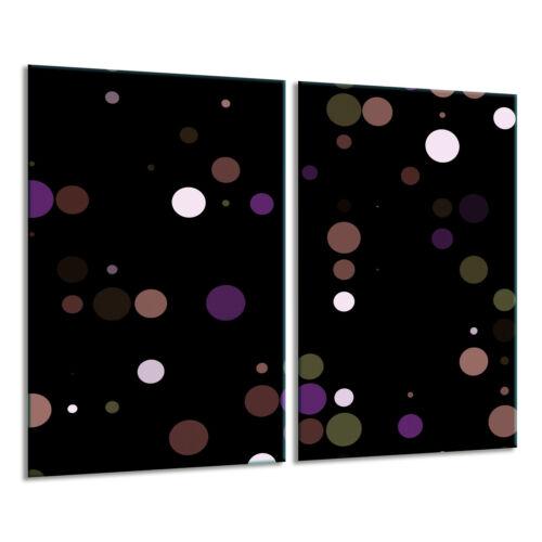 Herdabdeckplatten Ceranfeldabdeckung Spritzschutz Glas 2x30x52 Abstraktion