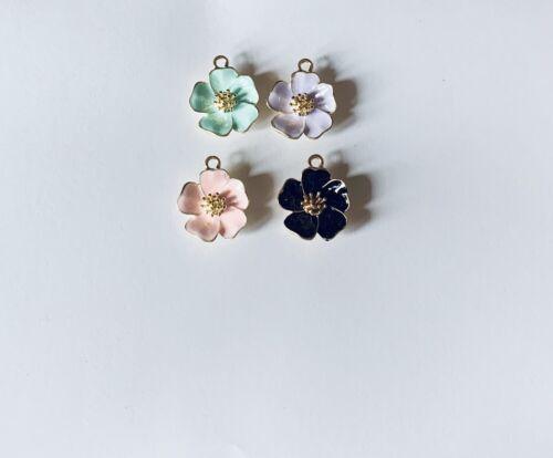 fabricación de joyas Esmalte Colgante de Flor de Cerezo Flor encanto Craft Supplies